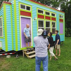 Check out this #CRAZY colorful tiny house tonight on #TinyHouseHunters on #HGTV at 10pm | 9c!