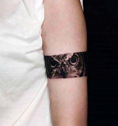 owl armband tattoo baykuş kol bandı dövmesi