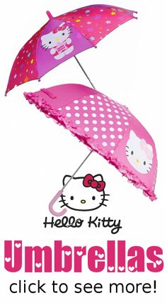 Hello Kitty umbrellas! I've collected some of my favorite umbrella designs at my new blog. Super cute! <3