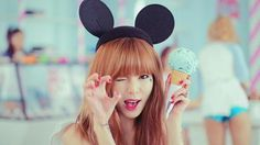Hyuna from 4MINUTE has a pretty cool hat right here :3. Perfect for Disneyland or fun parks :)