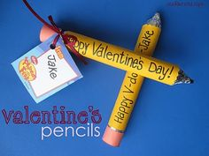 Fun valentines or as a back to school gift, or even end of the school year handout.  Pencils made out of candy.