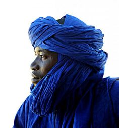 Tuareg man of Northern Africa.  (Julie D, this is for your blue board. Hope it reaches you.)