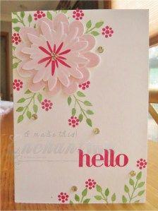 Handmade Card ... SU! - Flower Patch, Four You ... EnchantINK ... CASE: http://www.pinterest.com/pin/476185360573465922/