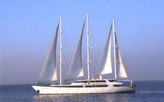 """S/C Panorama-Cruise Ship, Discover a 3 masted sail cruiser which can accommodate up to 49 passengers in 25 cabins. The """"PAN ORAMA"""" was launched in. Cuba, Small Ship Cruises, Discount Cruises, Cap Vert, Varadero, Jules Verne, Luxury Yachts, Sailing Ships, Cruises"""