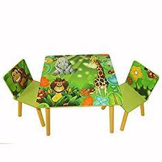 🐘 Kindertisch mit Dschungel Motiv | Dschungel Kinderzimmer | Tisch für ein Dschungelzimmer | Welcome to the jungle