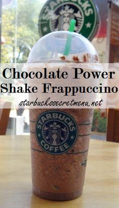 Starbucks Secret Menu Chocolate Power Shake Frappuccino! Recipe here: http://starbuckssecretmenu.net/chocolate-power-shake-frappuccino-starbucks-secret-menu/ Tastes just like a chocolate milkshake!