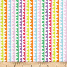 Michael Miller Novelties Zipper Stripe Brite from @fabricdotcom  This cotton print designed by Michael Miller features an zipper stripe pattern perfect for quilting, apparel and home decor accents. Colors include pink, purple, kellly green, sky blue, light orange, yellow, light pink and white.