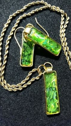 Spring Green CD Jewelry  by Karen Fisher