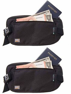 Keep your identity, money and other processions safe while traveling home or abroad with these slim RFID protected pouches.