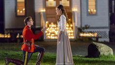 """Relive the """"When Calls the Heart"""" engagement with our photo gallery of Jack and Elizabeth's candlelit engagement."""