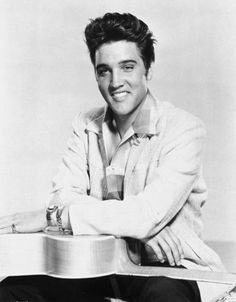 Elvis Presley is portrayed in this 1957 photo.