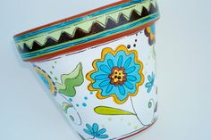 Hand Painted Terracotta Pot Dream in Green 4 by ThePaintedPine, $20.00