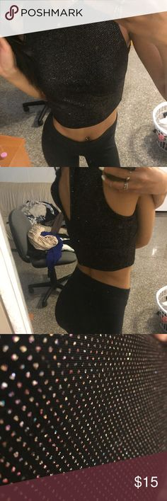Sparkly crop top from necessary clothing Cute top for a night out Necessary Clothing Tops Crop Tops