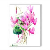 Found it at Wayfair - Cyclamens Painting Print on Wrapped Canvas