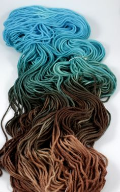 Plush Worsted- Chocolate Topaz Hand-paint, hand-dyed 100% merino wool yarn, 4-ply, 210 yds