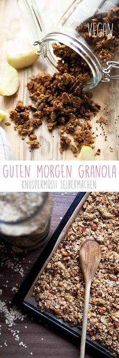 Guten Morgen Granola Homemade Granola Crunchy Muesli Good morning detox tea for a flat stomachThis is how the day starts off well: Good morning smoothieI have lemon water every morning for 30 days