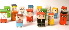 Cubicity – easy to assemble collectible paper toys. Since these are essentially small boxes (3cm high), they can be opened and flattened for easy portability.