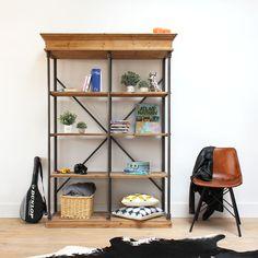 etag re bois et m tal koncept am pm biblioth que. Black Bedroom Furniture Sets. Home Design Ideas