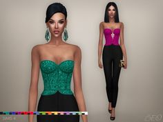Cristina collection Jumpsuit at BEO Creations via Sims 4 Updates