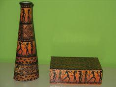 El baúl de Ana Belén: Conjunto de jarrón y caja africanos