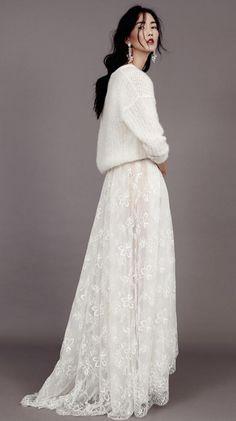Robe de mariee Kaviar Gauche dentelle et maille createur Berlin l La Fiancee du Panda blog mariage