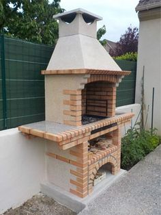 Picture of Portuguese Brick BBQ Brick Grill, Barbecue Design, Stainless Steel Grill, Outdoor Kitchen Design, Outdoor Living, Outdoor Decor, Bbq Grill, Outdoor Cooking, Backyard Landscaping