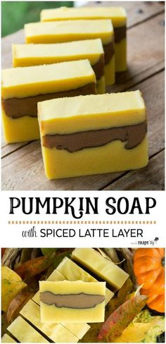 Pumpkin Soap with Spiced Latte Layer - All Natural Cold Process Soap Recipe
