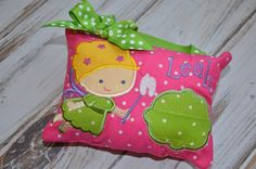Tooth Fairy Pillow  Girl Version by StrawberryKissesKids on Etsy, $19.95