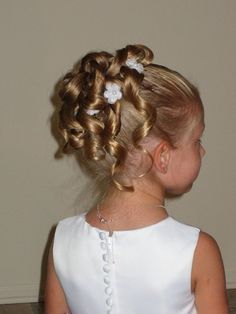 flower girl hairstyles updo image