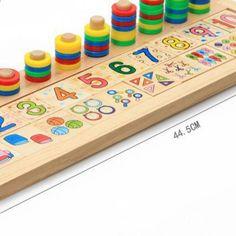 Lapset Puiset Montessori Materiaalit Oppiminen Count Numbers Matching varhaiskasvatus Opetus Matematiikka MZ24A Number Matching, Montessori, Counting, Numbers, Triangle