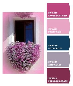i like the grape for the hallway and violet for the living room possibly. | Paint colors from Chip It! by Sherwin-Williams