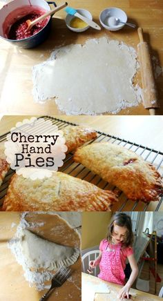 An awesome recipe for cherry hand pies! (And some baking with kids reality photos...)