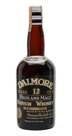 Official bottling of 12 yo Dalmore Highland Malt Scotch whisky from 60's