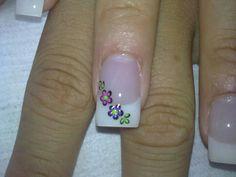 #Uñas #Nails French Manicure Designs, Nail Art Designs, Fancy Nails, Diy Nails, Nail Art Photos, Diamond Nails, Purple Nails, Beautiful Nail Art, Nail Arts
