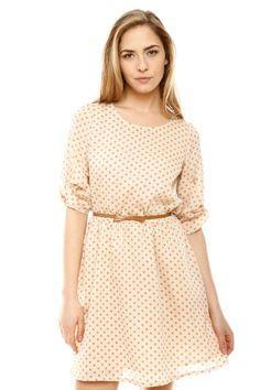 Shoptiques — Belted Polka Dot Dress