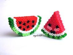 Sandías 3D de hama beads | 3D Watermelons perler beads