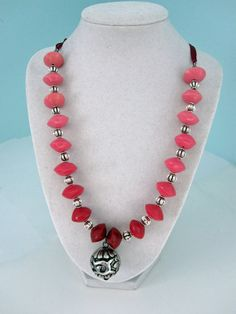 Red Ombre Statement Necklace by playsculptlive, $69.00
