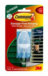 17093CLR-AW Command(TM) Outdoor Window Hook, Large