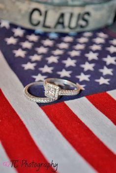 Of July Wedding: American Flag Photography Engagement Photography, Engagement Photos, Wedding Photography, Photography Ideas, Engagement Ideas, Military Couple Photography, Army Photography, 4th Of July Photography, Country Engagement