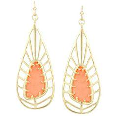 Kendra Scott Lyra Coral Earrings KSS3E4029GSMNM