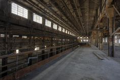 Abandoned factory located along the North Branch of the Chicago River