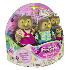 Amazon.com: Lil Woodzeez Whooswhoo Owl Family 4-Piece Bedtime Set with Storybook: Toys & Games
