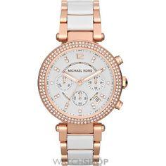 Ladies' Michael Kors Parker Ceramic Chronograph Watch LOVE!