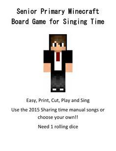 Minecraft board game for SR. primary