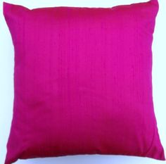 Hot Pink Pillow Cover  Hottest Pink Simply Silk by sassypillows, $19.99