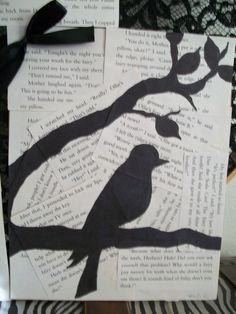 book page art with sharpie