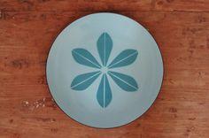 Cathrineholm Blue on Blue Lotus Enamelware Tray Plate Platter - SOLD! :)