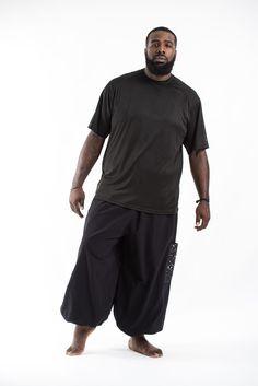 PLUS SIZE Cotton Men Unisex Pants in Black