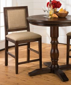 Loving this Florence Counter-Height Three-Piece Dining Set on #zulily! #zulilyfinds