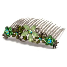 Perfect for any occasion. Decorative Hair Combs, How To Make Hair, Hair Jewelry, Turquoise Bracelet, Topaz, 3 D, Swarovski Crystals, Jewelry Watches, Short Hair Styles
